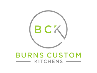 Burns custom kitchens logo design