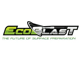 Logo design for blasting servise Company called ECOBlast logo design