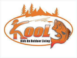 KOOL (kids on outdoor life) logo design