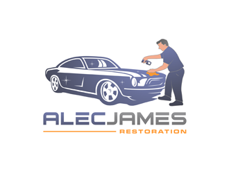 AlecJames Restoration logo design