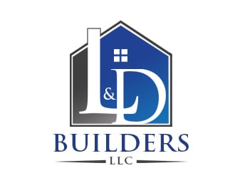 L & D Builders, LLC logo design