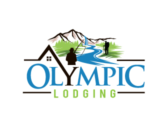 Olympic Lodging logo design