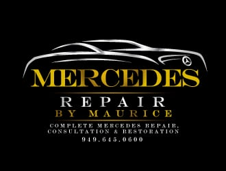 Mercedes Repair by Maurice logo design