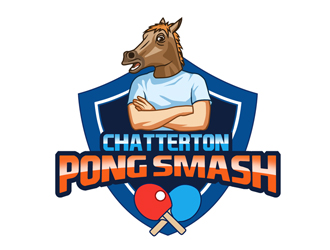 Chatterton Pong Smash logo design