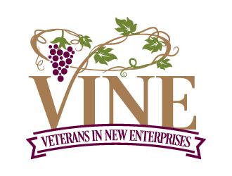 VINE  (1st line)         Veterans In New Enterprises (2nd line) logo design