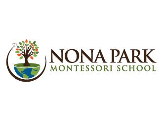 Nona Park Montessori School logo design