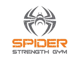 Spider Strength Gym logo design