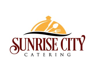 Sunrise City Catering logo design