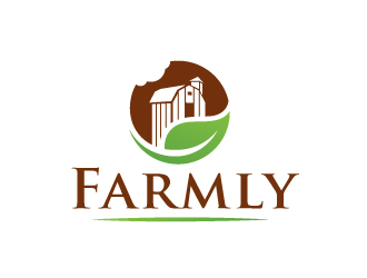 Farmly Canine (maybe just Farmly) logo design