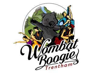 Wombat Boogie - Trentham logo design