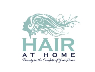 Hair at Home logo design