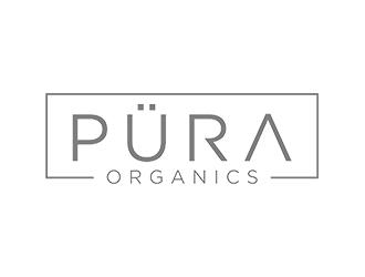 PÜRA Organics logo design