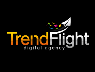 TrendFlight Digital Agency logo design