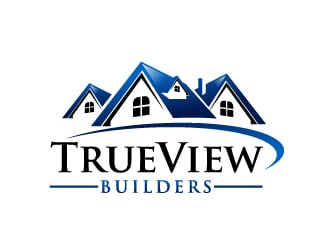 TrueView Builders logo design