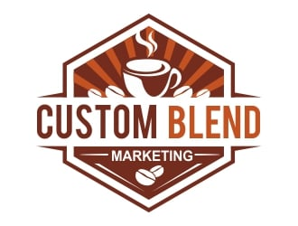Custom Blend Marketing logo design