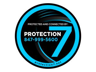 Protection7 logo design