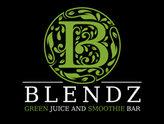 Blendz, Green Juice and Smoothie Bar logo design