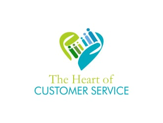The Heart of Customer Service logo design