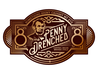 PennyDrenched logo design