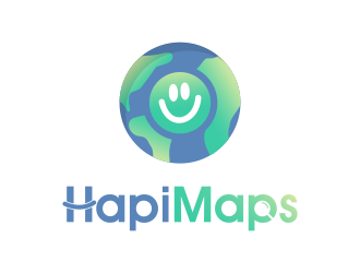 HapiMaps logo design