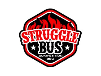 Struggle Bus Competition BBQ logo design