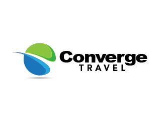 Converge Travel logo design