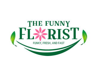The Funny Florist . Com logo design