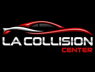 LA Collision Center logo design