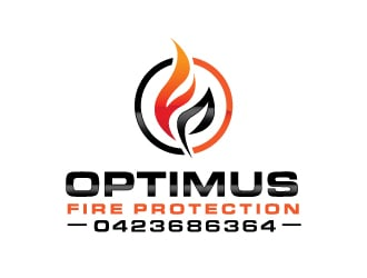 Optimus Fire Protection logo design