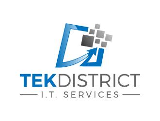Tek District logo design