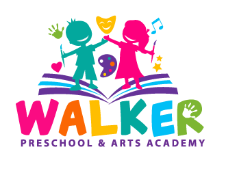 Walker Preschool & Arts Academg logo design