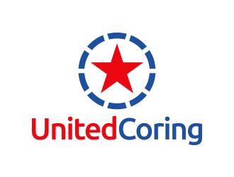 United Coring logo design