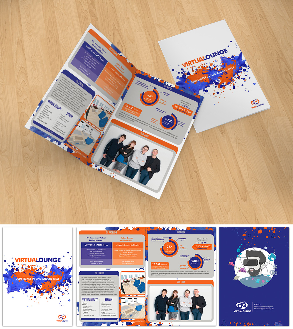 Business brochure (bifold) for young and modern start-up logo design