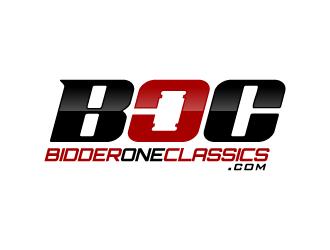 BidderOneClassics.com logo design