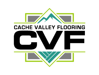 Cache Valley Flooring logo design