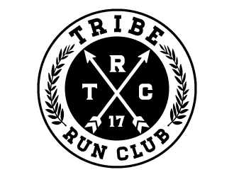 Tribe Run Club or TRC logo design
