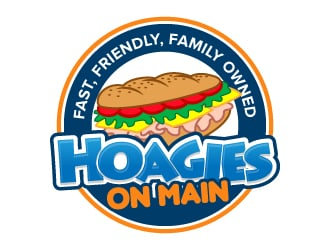 Hoagies On Main logo design