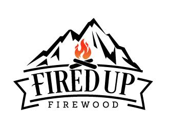Fired Up Firewood logo design