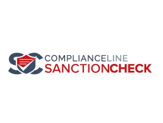 SanctionCheck -or- SANCTIONCHECK (Division of ComplianceLine) logo design