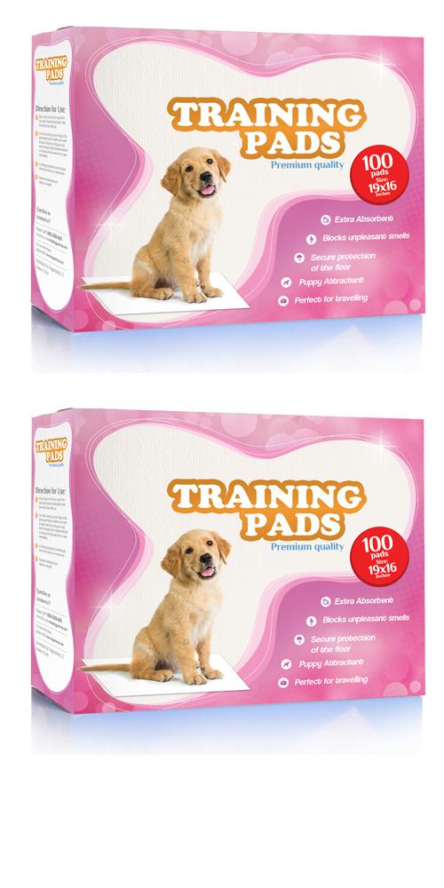 Training pads & Trays box design logo design