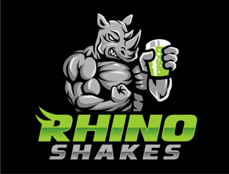 Rhino Shakes logo design