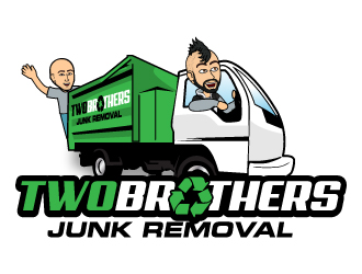 Two Brothers Junk Removal logo design