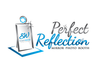 Perfect Reflection Mirror Photo Booth logo design