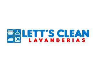 LC LETT´S CLEAN PLACE LAVANDERIAS logo design