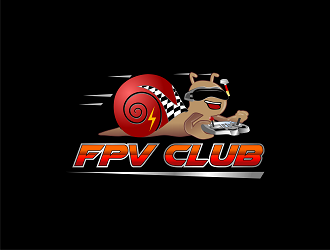 FPV CLUB logo design