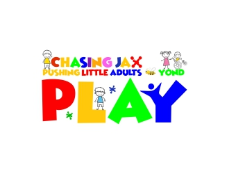 Chasing Jax  - Tagline: PLAY- Pushing Little Adults ¨Be¨yond logo design