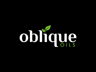 Oblique Oils logo design