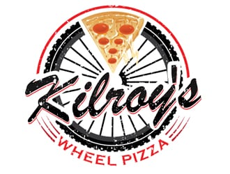 Kilroy's Pizza Wheel logo design
