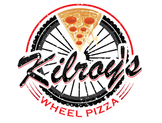 Kilroy's Pizza Wheel logo design