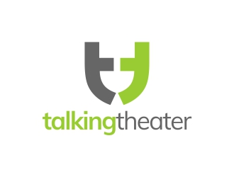 talking theater logo design